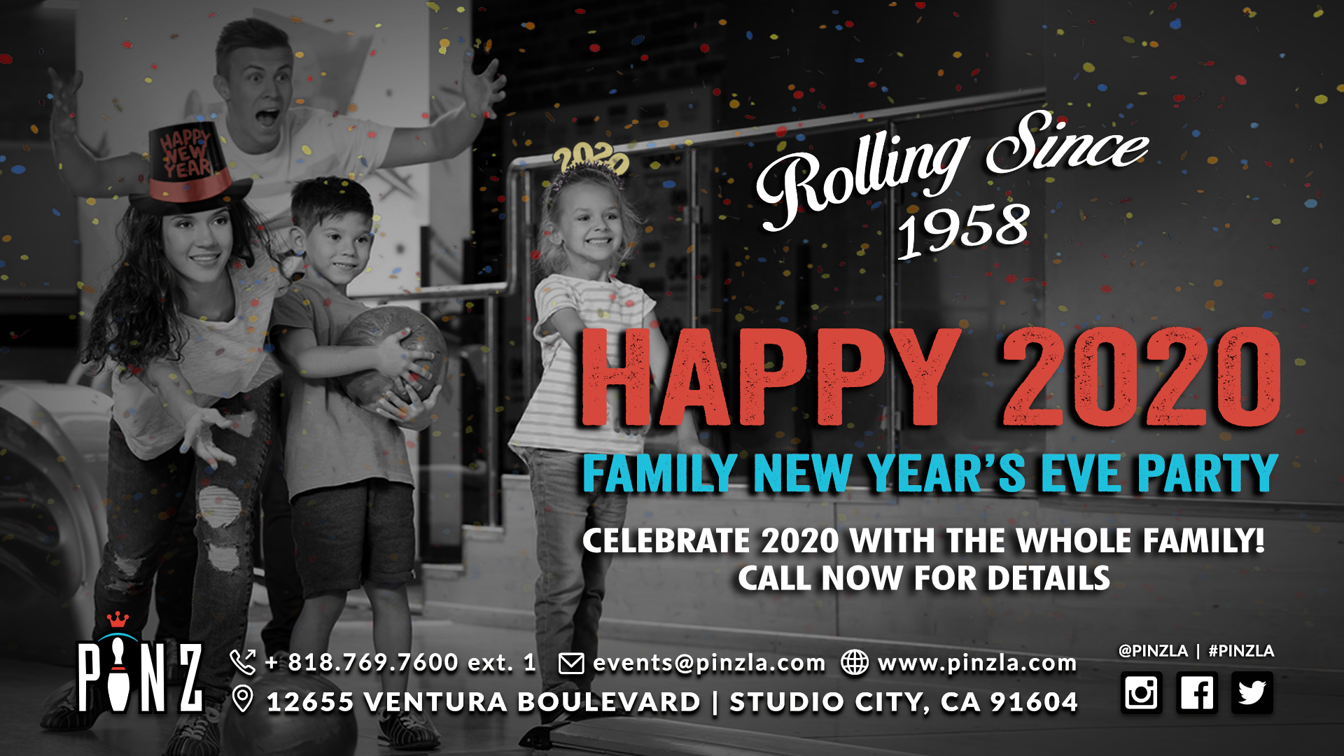 Family New Year's Eve Party - Call Now for Details - 818.769.7600 extension 1